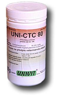 Veterinární přípravky : UNI-CTC 80 plv  ad us vet